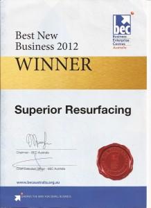superior resurfacing business award