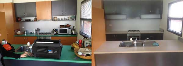 alt Before and After Photos of a Resurfaced Kitchen